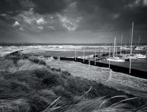 Storm i Hornbæk Havn
