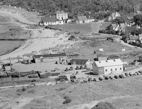 Hornbæk Havn fra oven 1940'erne