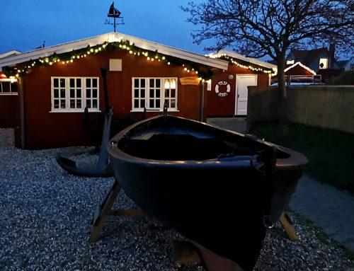 Havneforeningen med julelys – Glædelig Jul